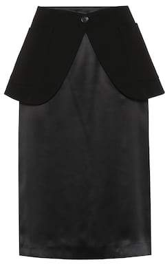 Maison Margiela Wool and satin skirt