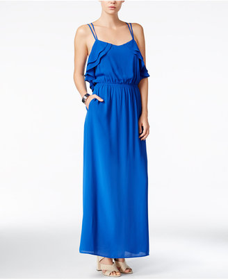 Bar III Ruffled Maxi Dress, Only at Macy's $89.50 thestylecure.com