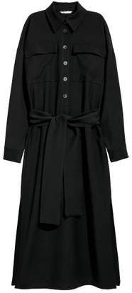H&M Shirt Dress with Tie Belt - Black