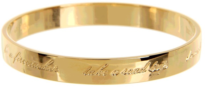 Kate Spade This Is The Year Idiom Bangle (Gold) - Jewelry