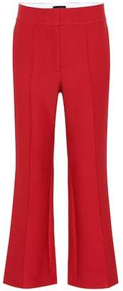 Joseph Wool-blend high-rise flared pants