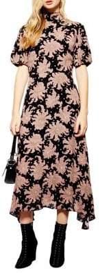 Topshop Paisley Print Midi Dress