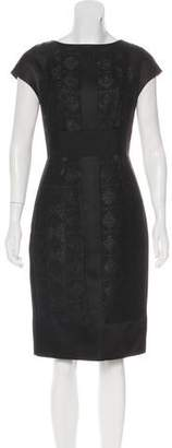 J. Mendel Metallic Bouclé Dress