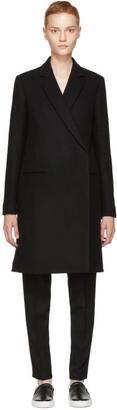 Victoria Beckham Black Wool Tailored Coat