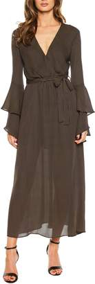 Bardot Loretta Ruffle Sleeve Maxi Dress