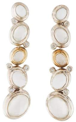 David Yurman Diamond, Moonstone & Agate Earrings
