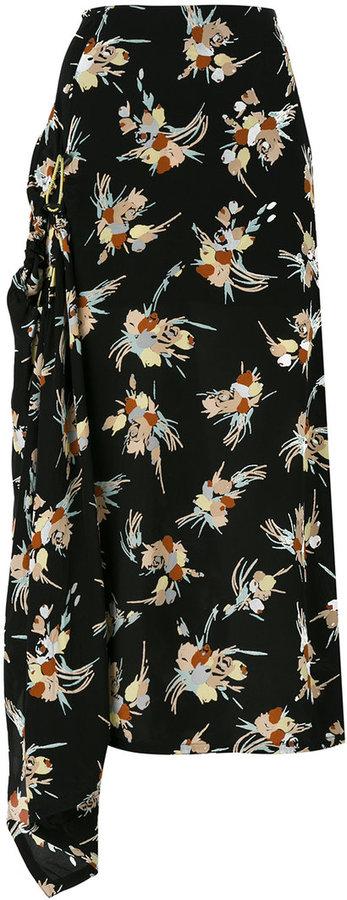 MarniMarni abstract print full skirt