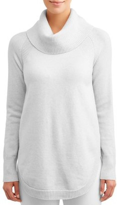 Time and Tru Cowl Neck Tunic Sweater Women's