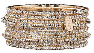 Natasha Accessories Crystal Bangle Bracelet Set