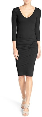 Women's James Perse V-Neck Ruched Dress $225 thestylecure.com