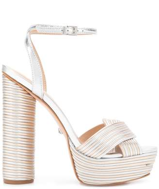 Schutz panelled platform sandals