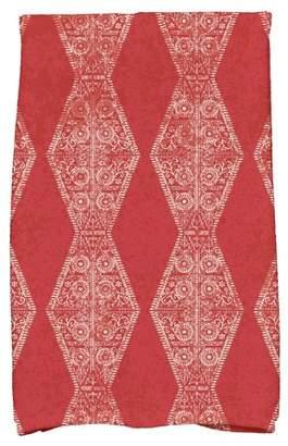 "Simply Daisy 16"" x 25"" Pyramid Stripe Geometric Print Hand Towel"