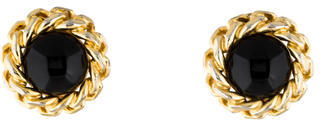 Christian Dior  Christian Dior Resin Clip-On Earrings