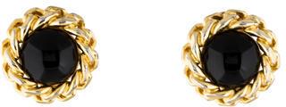 Christian Dior Christian Dior Resin Clip-On Earrings