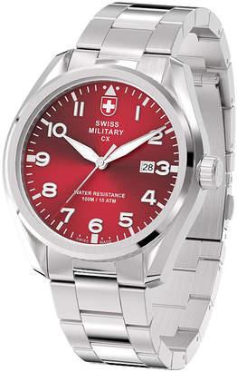 Swiss Military BY CHARMEX By Charmex Pilot Mens Silver Tone Bracelet Watch-78333_11_F