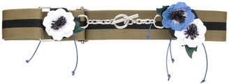Sonia Rykiel flower applique belt
