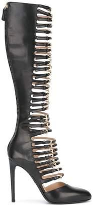 Giambattista Valli buckled straps knee-high boots
