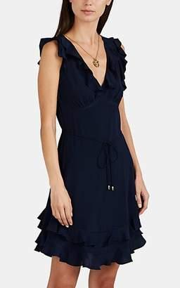 Zimmermann Women's Ruffled Silk Minidress - Navy