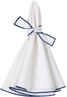 Mode Living Napa Napkins with Colorful Hems and Matching Bows Set of 4