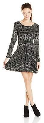 Angie Juniors Long Sleeve Sweater Dress