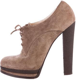 Casadei Suede Platform Booties $145 thestylecure.com
