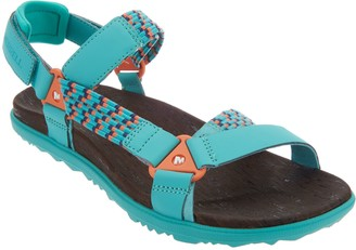 1e7a9c3a6936 at QVC · Merrell Woven Back-Strap Sandals -Around Town Sunvue