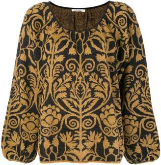 Mes Demoiselles patterned boxy sweater