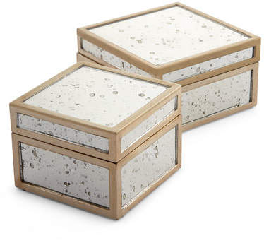 Pigeon and Poodle Positano Boxes, 2-Piece Set