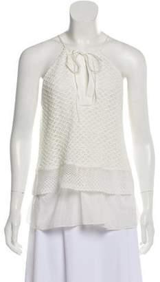 Thakoon Addition Crochet Sleeveless Top