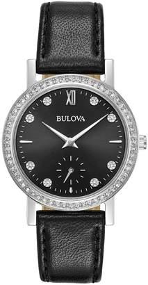 Bulova Women's Crystal Leather Watch - 96L246