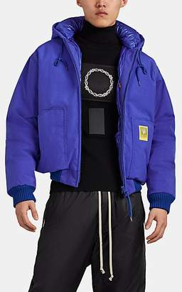 BRUMAL Men's Down Puffer Bomber Jacket - Blue