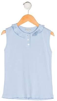 Papo d'Anjo Girls' Knit Sleeveless Top