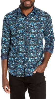 Jeff Everett Slim Fit Floral Print Sport Shirt