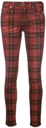R 13 Kate tartan skinny jeans