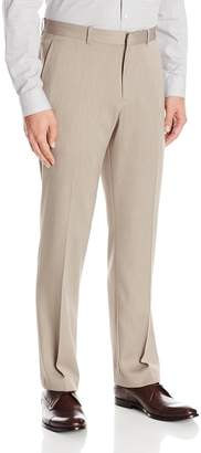 Perry Ellis Men's Flat Front Modern Fit Melange Pant