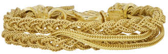 Emanuele Bicocchi Gold Double Braided Bracelet