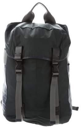 Lanvin Leather & Nylon Backpack grey Leather & Nylon Backpack