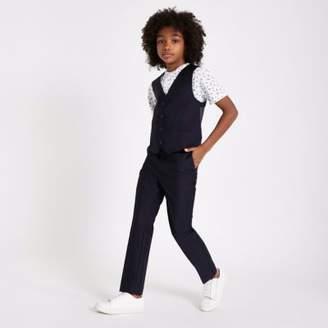River Island Boys navy suit vest