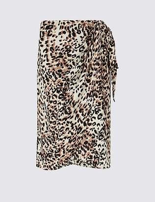 M&S Collection Animal Print Wrap Skirt