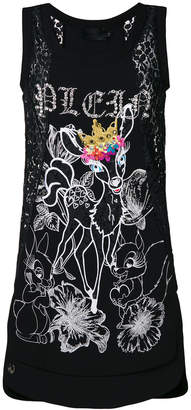 Philipp Plein Bambi embellished tank top