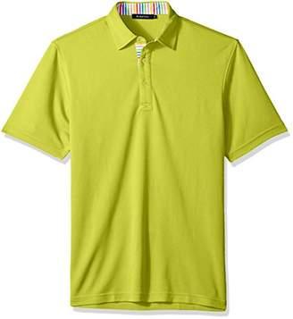 Bugatchi Men's Classic Fit Soft Fabric Three Button Collar Knit Shirt