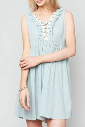 Hayden Los Angeles Ruffled Lace-Up Dress