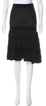 Jean Paul Gaultier A-Line Knee-Length Skirt w/ Tags Black A-Line Knee-Length Skirt w/ Tags