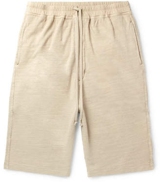Rick Owens Slub Loopback Cotton-Jersey Drawstring Shorts - Cream
