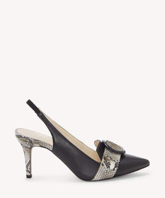 Enzo Angiolini Women's Dalayza In Color: Black/natural Multi Shoes Size 5 Leather From Sole Society