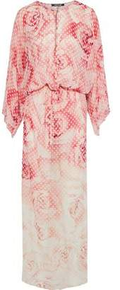 Roberto Cavalli Printed Silk-Chiffon Maxi Dress