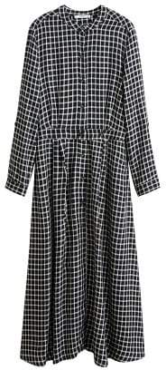 MANGO Check shirt dress