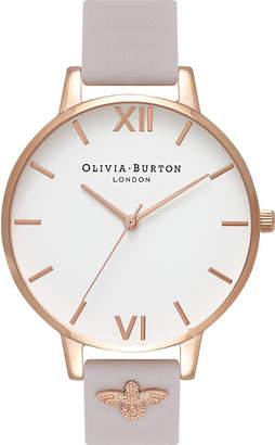 Olivia Burton Quartz white dial leather strap