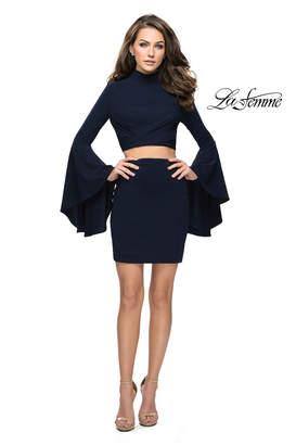 La Femme Jersey 2PC Dress
