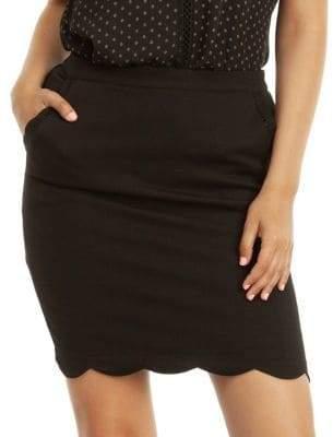 Dex Scallop Hem Mini Skirt